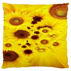 Beautiful Sunflowers Large Cushion Case (two Sides) by BangZart