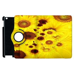 Beautiful Sunflowers Apple Ipad 2 Flip 360 Case by BangZart