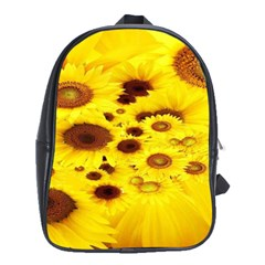 Beautiful Sunflowers School Bags (xl)  by BangZart