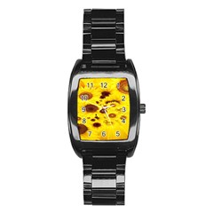 Beautiful Sunflowers Stainless Steel Barrel Watch
