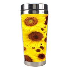 Beautiful Sunflowers Stainless Steel Travel Tumblers by BangZart
