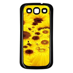 Beautiful Sunflowers Samsung Galaxy S3 Back Case (black)