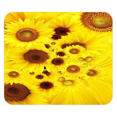 Beautiful Sunflowers Double Sided Flano Blanket (small)