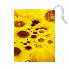 Beautiful Sunflowers Drawstring Pouches (extra Large) by BangZart