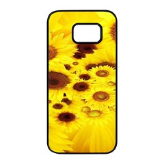 Beautiful Sunflowers Samsung Galaxy S7 Edge Black Seamless Case