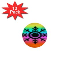 Vector Snowflake 1  Mini Buttons (10 Pack)