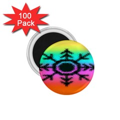 Vector Snowflake 1 75  Magnets (100 Pack)