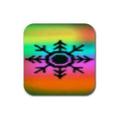 Vector Snowflake Rubber Square Coaster (4 Pack)  by BangZart