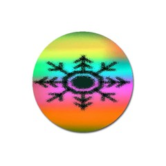 Vector Snowflake Magnet 3  (round) by BangZart
