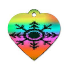 Vector Snowflake Dog Tag Heart (one Side) by BangZart