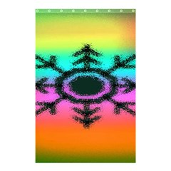 Vector Snowflake Shower Curtain 48  X 72  (small)
