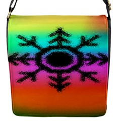 Vector Snowflake Flap Messenger Bag (s)