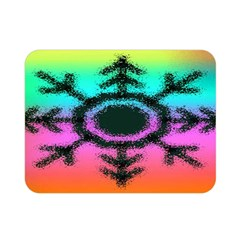 Vector Snowflake Double Sided Flano Blanket (mini)  by BangZart