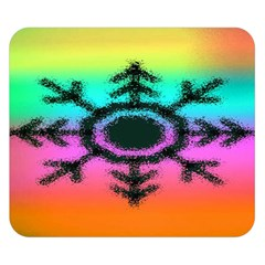 Vector Snowflake Double Sided Flano Blanket (small)  by BangZart