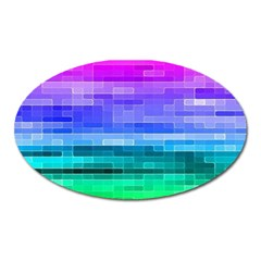 Pretty Color Oval Magnet by BangZart
