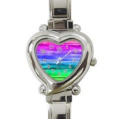 Pretty Color Heart Italian Charm Watch by BangZart