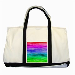 Pretty Color Two Tone Tote Bag by BangZart