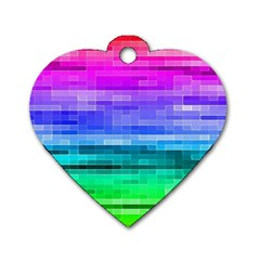 Pretty Color Dog Tag Heart (one Side) by BangZart