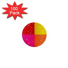 Color Abstract Drops 1  Mini Buttons (100 Pack)  by BangZart