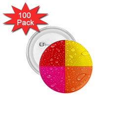 Color Abstract Drops 1 75  Buttons (100 Pack)