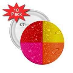 Color Abstract Drops 2 25  Buttons (10 Pack)