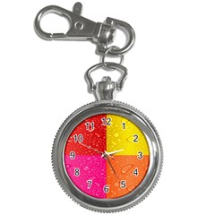 Color Abstract Drops Key Chain Watches