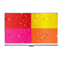 Color Abstract Drops Business Card Holders by BangZart