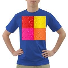 Color Abstract Drops Dark T Shirt