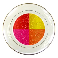 Color Abstract Drops Porcelain Plates by BangZart