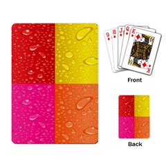 Color Abstract Drops Playing Card