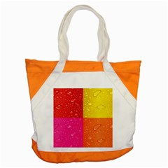 Color Abstract Drops Accent Tote Bag by BangZart