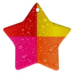 Color Abstract Drops Star Ornament (two Sides) by BangZart