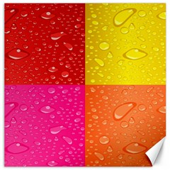 Color Abstract Drops Canvas 16  X 16   by BangZart