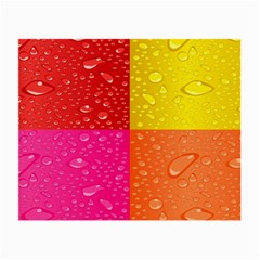 Color Abstract Drops Small Glasses Cloth (2 Side) by BangZart