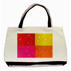 Color Abstract Drops Basic Tote Bag (two Sides) by BangZart
