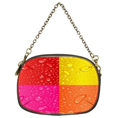 Color Abstract Drops Chain Purses (two Sides)  by BangZart