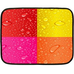 Color Abstract Drops Double Sided Fleece Blanket (mini)  by BangZart