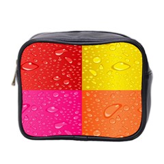 Color Abstract Drops Mini Toiletries Bag 2 Side