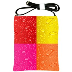 Color Abstract Drops Shoulder Sling Bags