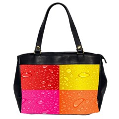 Color Abstract Drops Office Handbags (2 Sides)  by BangZart