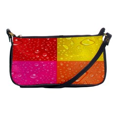 Color Abstract Drops Shoulder Clutch Bags by BangZart