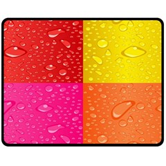 Color Abstract Drops Fleece Blanket (medium)  by BangZart