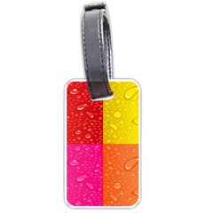 Color Abstract Drops Luggage Tags (two Sides) by BangZart