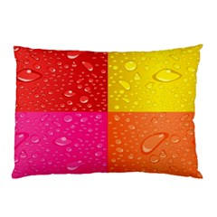 Color Abstract Drops Pillow Case (two Sides) by BangZart