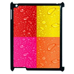 Color Abstract Drops Apple Ipad 2 Case (black) by BangZart