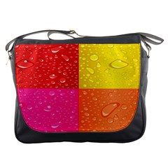 Color Abstract Drops Messenger Bags