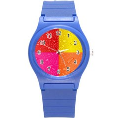 Color Abstract Drops Round Plastic Sport Watch (s)