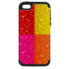 Color Abstract Drops Apple Iphone 5 Hardshell Case (pc+silicone) by BangZart