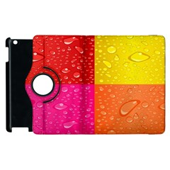 Color Abstract Drops Apple Ipad 2 Flip 360 Case by BangZart