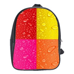 Color Abstract Drops School Bags (xl)  by BangZart
